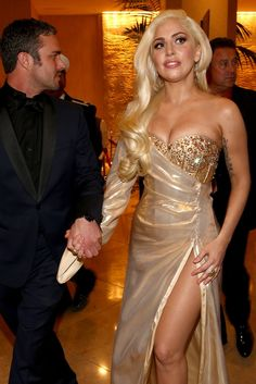 Taylor Kinney and Lady Gaga at NBC's Golden Meets Golden after party. [Photo by Christopher Polk/NBC/NBC via Getty Images]