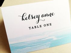 Watercolor Wedding Place Cards  Set of 25 by LittleSparkCreations, $37.50
