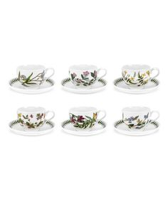 This Botanic Garden Breakfast 10-Oz. Cup & Saucer - Set of Six is perfect! #zulilyfinds
