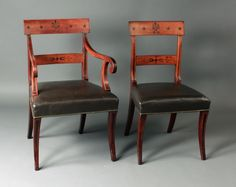 Antique set of eight dining chairs - Stock - Moxhams Antiques