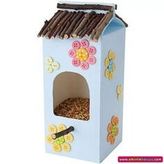 Идеи кормушек для птиц - Поделки с детьми | Деткиподелки