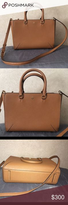 "Small Robinson Zip' Tote 10 ¾""W x 8""H x 3 ½""H. (Interior capacity: small.) 4"" strap drop; 21"" - 24"" crossbody strap drop. 1.7 lbs. Tory Burch Bags Totes"