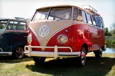 I have always wanted a VW bus...and cherry red.