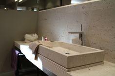 bathroom, bagno, marmo, marble Perla Beige Leather