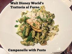 Campanelle at Trattoria  at Disney's BoardWalk Resort & Spa #DisneyDining #BoardwalkResort