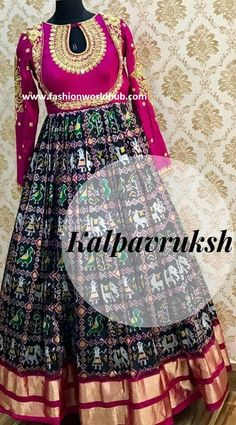 Our current trend on pattu is increasing day by day . In pattu fabric apart from Kanjeevaram, uppada, kuppadam pattu , paithani pattu it is ikkat pattu which are currently in high demand and trending. As per trend report understand that this ikkat pochampally pattu is not only rocking in traditional sarees but also these ikkat pattu is trending high in Traditional floor lenght Anarkali, Halfsarees , kids lehenga and also as long skrit and crop top. Ikkat pattu sarees :- These pattu sarees…