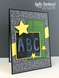 Stampin' Up! Australia: Kylie Bertucci Independent Demonstrator: Back to School card for a teacher or a student