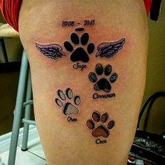 Paw Print Tattoo 12