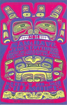 Sam & Dave, James Cotton Blues Band, Country Joe & the Fish Loading Zone de 1967 - Fillmore Auditorio (San Francisco, CA) Art By Bonnie MacLean Psychedelic Rock, Psychedelic Posters, Hippie Posters, Psychedelic Experience, Illustration Photo, Illustrations, Vintage Concert Posters, Vintage Posters, San Francisco