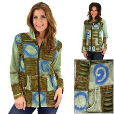 Patchwork Peaceful Waters Hooded Jacket at The Rainforest Site