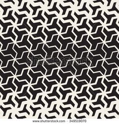 Vector Seamless Black And White  Geometric Triangle Shape Tessellation Halftone Line Grid Pattern Abstract Background