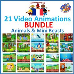 French video animations by Language Learning Lab aims to enable children to listen, learn and express key vocabulary from 21 popular French songs. It is well known that music and singing are great ways to introduce children to the pattern and rhythm of language.