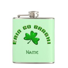 Erin Go Bragh Vinyl Wrapped #Flask - Now THIS is an #Irish product!