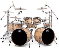 Drum Workshop Collector's Series Lacquer Custom - Natural VLT with Chrome Hardware