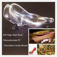 Envío Gratis Home Baking DIY Zapatos De Tacón Alto Paquete de Caramelo de Chocolate Del Molde de Policarbonato PC 3D…