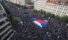 Biggest Czech protest since 1989 calls for PM's resignation: About in Prague call on Andrej Babiš to quit over alleged conflicts of interest Transparency International, Coalition Government, Trust Fund, Group Of Companies, Pms, Accusations, The Guardian, Prague, Revolution
