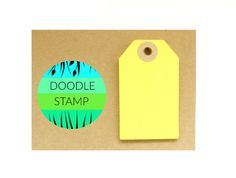 RECTANGLE LUGGAGE TAGS  Pack of 14 Yellow 140 gsm by DoodleStamp