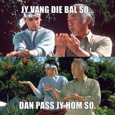 Jy vang die bal so. Rugby Memes, Rugby Funny, Rugby Quotes, South African Rugby, South African News, African Memes, Funny Jokes, Hilarious, Afrikaanse Quotes