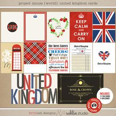 Project Mouse (World): United Kingdom  Journal Cards by Britt-ish Design and…