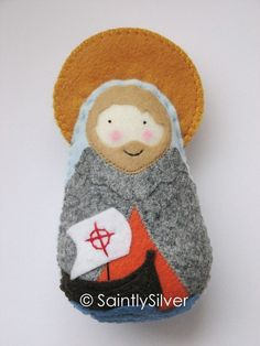 Saint Brendan softie from Saintly Silver on #etsy - she has EVERY saint!  Even one for my Brendan!