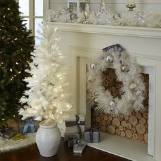 Fit your favorite space with frosted beauty this holiday season. Our pre-lit tree sparkles in a bright white and looks perfect placed by your front door, or pair two and frame your favorite spaces in warmth and light.