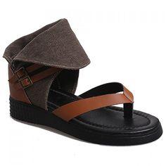 Rome Splice and Buckles Design Women's Sandals
