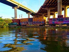 Kanawha Canal, Richmond Dock, CSX tracks through Chapel Island