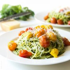 Kale Walnut Pesto & Blistered Tomato Pasta — Tastes Lovely