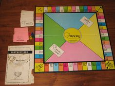 Vintage board game PASS-OUT by Frank Bresee...too funny!