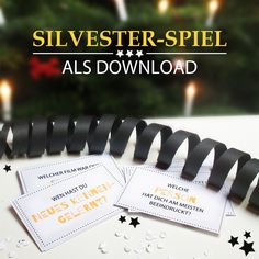 Ein witziges Spiel für deine Party an Silvester zum Runterladen! #Freebie #Printable #newyear