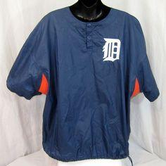 Starter Diamond Collection MLB Detroit Tigers Warm Up Pullover Vntg NWOT Large #Starter #DetroitTigers