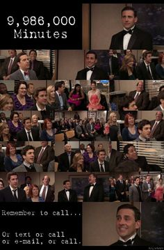 9,986,000 Minutes - the Michael Scott farewell song; one of the saddest moments on the show