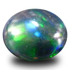 Black Opals 181110: 1.65 Ct Aaa Spectacular Oval Cabochon Shape (10 X 8 Mm) Black Opal Gemstone -> BUY IT NOW ONLY: $34.99 on eBay!