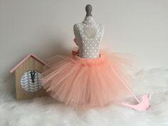 Spódniczka tiulowa brzoskwiniowa idealna dla małej księżniczki:)
