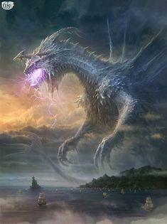 Artist: Unknown - Title: Unknown - Card: Ocean Dragon Emperor (Hunts)