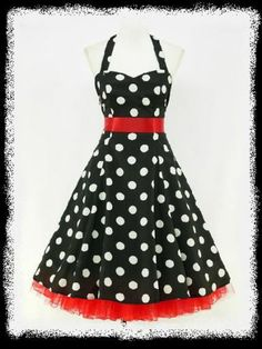 dress190 CHIFFON BLACK POLKA DOT 50's PINUP ROCKABILLY SWING PROM DRESS 18-20 | eBay
