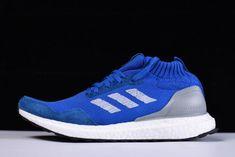 Discount Mens adidas Ultra Boost Mid Run Thru Time Blue Footwear White  BY3056 – Sole c5e45ec61