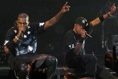 Jay-Z & Kanye West à Paris Bercy