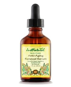 Anti-Aging Anti-Aging Renewal Serum       Reduce Fine Lines and Deep Wrinkles Fast with 100% of Nature's Best.   Works to continuously renew the look of skin, helping smooth wrinkles and diminish the look of age spots, crow's feet, and brighten your skin's tone and complexion.  Potent natural anti-oxidants from Jojoba and Sea Buckthorn fight all key signs of visible aging and help neutralize skin-damaging free radicals for healthier looking skin.