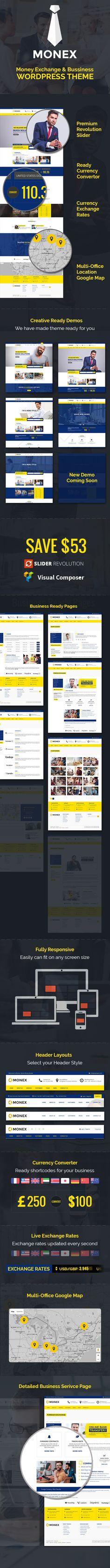 Monex - Money Exchange & Finance Business WordPress Theme • Download theme ➝…