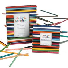 Wouldn't this recycled colored pencil picture frame be fun to make?