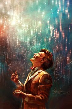 I love this. Its so, 11...I've probably pinned it before, but...feels. <3 <3 ~original art by Alice X. Zhang #doctorwho #mattsmith #fanart