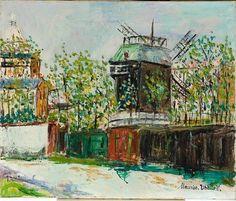 'Moulin de la Galette' by Maurice Utrillo (1883-1955, France)