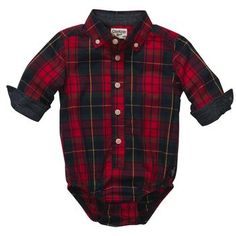 OshKosh B'gosh. Red Plaid Bodysuit. $18.00 how cute!! Could be just like his daddy :)