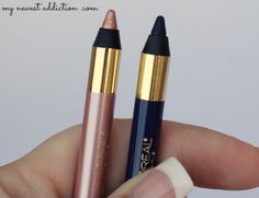 L'Oreal Silkissime Eyeliner in Plum and Highlighter - My Newest Addiction Beauty Blog #loreal #silkissime #eyeliner #bbloggers #makeup #beauty #liner #plum #highlighter