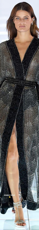 Azzaro Fall 2019 Couture #Azzaro #Fall2019 #Couture #Runway #SparklyGold Azzaro, Isabeli Fontana, Model Look, Glamour, The Chic, Party Fashion, Couture Fashion, Black Silver, Celebs