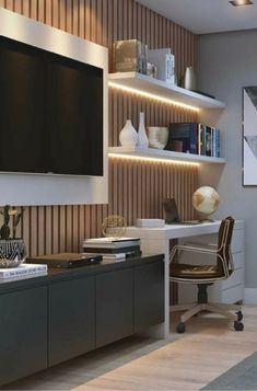 Decor Home Office Design Ideas. Office are now a standard to modern-day homes. Decor Home Office Design Ideas. Office are now a standard to modern-day homes. All of us have actua Home Office Space, Modern Home Office, House Interior, Office Interiors, Home, Interior, Modern Office Space, Home Office Design, Home Decor