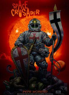 Space Crusader. Illustration by pepe moreno