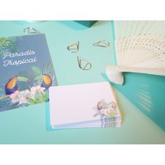 Paradis Tropical, Exotic Flowers, Sticker, Paper Mill, Objects, Paper