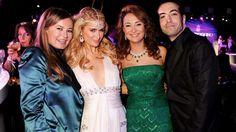 Glamur. Hind el Achchabi (de verde, junto a Paris Hilton) era habitual de las grandes fiestas, como ... - Image LaVanguardia.com